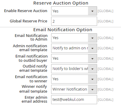 Reserve Auction
