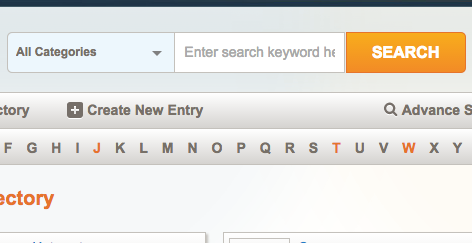 magento directory search