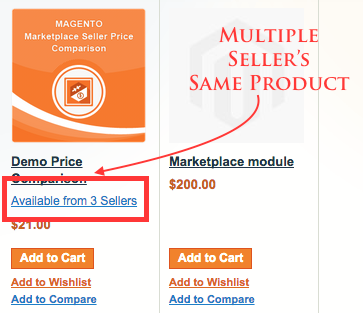 magento marketplace price comparison multiple seller