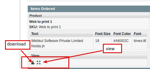 web to print order template
